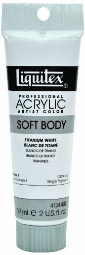 Body 2 Ounce Tube - Liquitex Professional Soft Body Acrylic Paint 2-oz tube, Titanium White