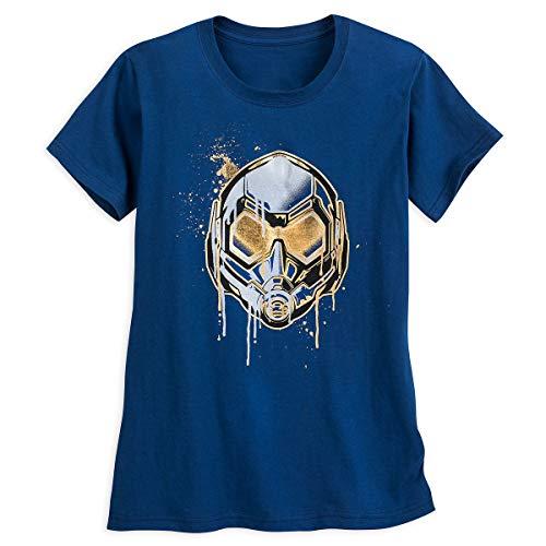 Disney Ant-Man and The Wasp Helmet T-Shirt for Women (Medium) Blue