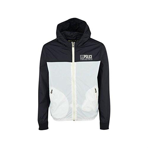 883 para hombre tamaño grande ligero modelo usado por la policía chaqueta impermeable para mujer capucha para traje de buzo Twin bolsillos laterales: ...