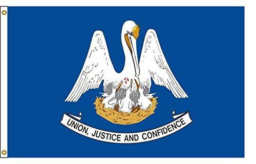 Louisiana 4ftx6ft Nylon State Flag 4x6 Made in USA 4'x6'