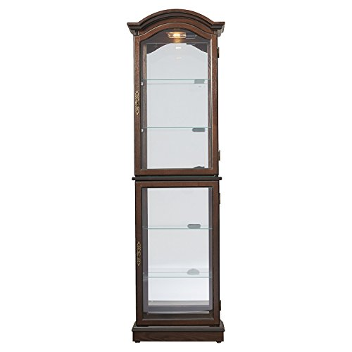 curio cabinet floor standing lighted glass sides and shelves buy online in uae loyer. Black Bedroom Furniture Sets. Home Design Ideas