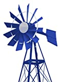 Outdoor Water Solutions PCW0237 20-Feet Blue and White Powder Coated Windmill
