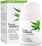 InstaNatural - Eye Gel Cream - Wrinkle, Dark Circle, Fine Line & Redness Reducer - Pure & Organic Anti Aging Blend for Men & Women with Hyaluronic Acid - Fight Bags & Lift Skin Under Eyes - 1.7 oz