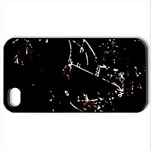 Metal Fish - Case Cover for iPhone 4 and 4s (Modern Series, Watercolor style, Black)