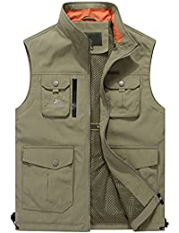 Mr.Stream Men's Quick Drying Outdoor Sports Gilet Lightweight Mountain Fishing Active Sleeveless Vest