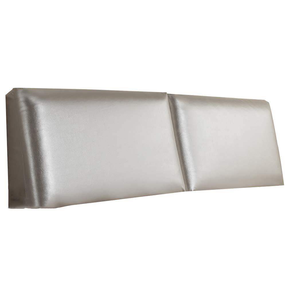 GUOWEI ベッドサイドクッション 布張り ヘッドボード ウェッジ バックレスト サポートスポンジ 6色 5サイズ 180x60x10cm グレー 180x60x10cm グレー B07M93Z8Q7