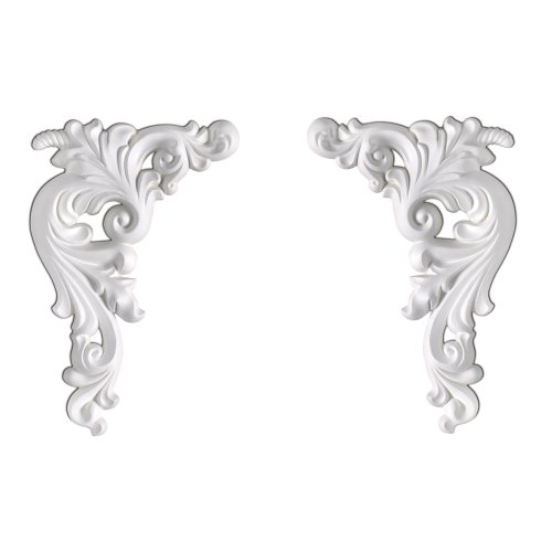 - Focal Point 99400 Seraphine Accent (Pair) 9 1/8-Inch by 6 1/8-Inch by 3/4-Inch, Primed White, 2-Pack