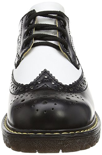 Stringata Black Brogue Multicolor White Bertrum Uomo Grinders qFpRE
