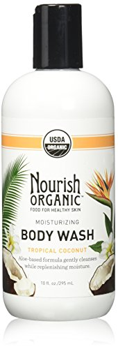 Nourish Organic Moisturizing Cream Body Wash, Tropical Coconut, 10 Fluid Ounce Organic Shower