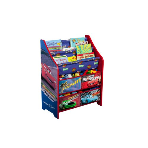 Disney cars book and toy organizer discontinued by for Toy and book storage