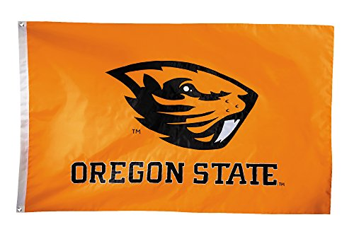 (BSI NCAA Oregon State Beavers 2-Sided Nylon Applique Flag with Grommets, 3' x 5', Orange)
