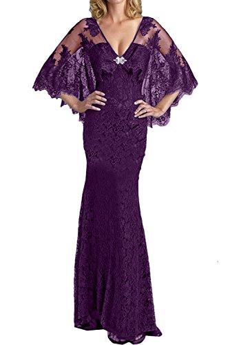 Schwarz Meerjungfrau Spitze Abendkleider Bodenlang Neck Violett Partykleider 2017 Ivydressing Sexy Neu V Promkleider X0fwZU6