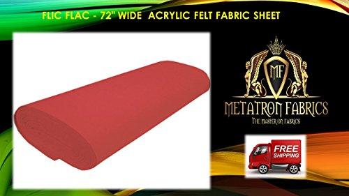 Flic Flac - Red Acrylic Felt Fabric Sheet 72