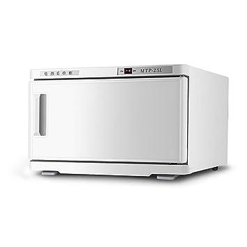 25L Toalla Esterilizador Esterilizador de calor Calentador de toallas Hotel Salón de belleza Peluquería Desinfección por calor de jardín de infantes,White: ...