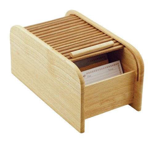 Mountain Woods Large 3-by-5 Roll Top Recipe Box (Holds 800 3