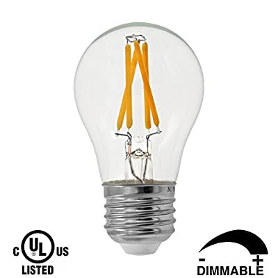 Dr.Lamp Dimmable LED Filament Bulb A15 3W Replacement 40W Incandescent Light 2700K Warm White E26 Medium Base for Pendant Light Wall Lamp