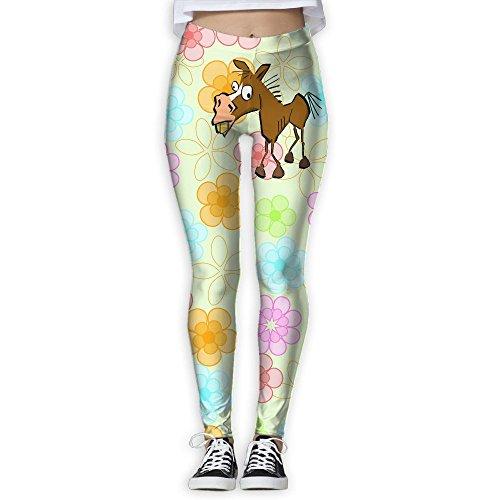 Jasonasd Lovely Crazy Horse Funny Special Women's Popular Slim Exercise Fitness Yoga Trousers