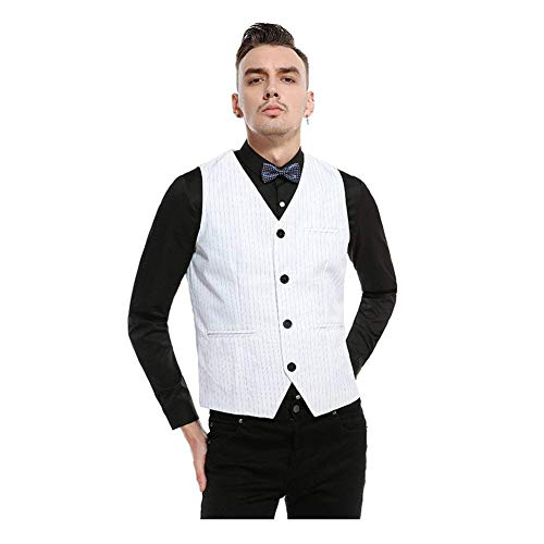 Blazer Celebratory Vest 2 Fit Giovane Da Smart Slim Skinny Gilet white Business Suit Uomo 0qIwgf