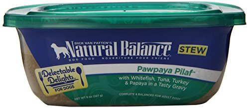 Natural Balance Delectable Delights Pawpaya Pilaf Dog Stew , pack of 12