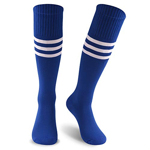 KitNSox Knee High Striped Cheerleading Socks, Teen Boys