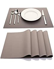 IYYI Silicone Placemats,Placemats for Kids,Placemats Set of 4 Waterproof Heat Resistant Non-Slip Kitchen Table Mats for Dining Table, Easy to Clean