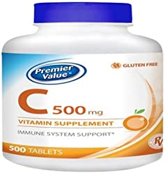 Premier Value C Vitamin Supplement - 500mg, Tablets 500 ct