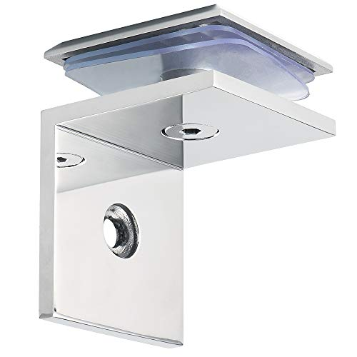 Alise Shower Door Square Fixed Panel Clamp with Large Leg,Glass Shelf Brackets Support,Shower Doors Partition Hinge,SUS 304 Stainless Steel Polished Chrome
