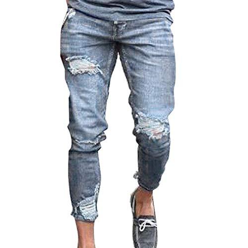Strech Holes Destroyed Streetwear Fashion Jeans Especial Ufig 1 Estilo Fit Skinny Pantaloni Chern Uomo Denim Slim Hwft5xqnFR