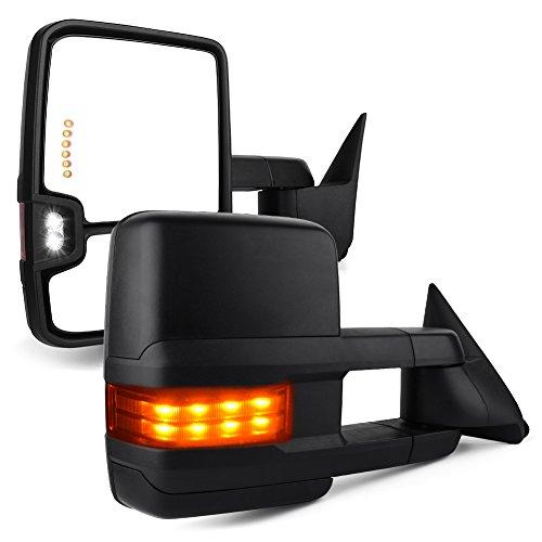 For 88-98 C//K 1500 2500 3500 Power Smoke LED Signal Lights Mirrors Pair Set