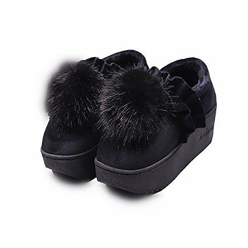 CWAIXXZZ pantofole morbide Inverno moda pantofole di cotone femmina velluto plus pacchetto spessa alla radice Kam-scarpe caldo con simili, attraverso gli spiedini off scarpe anti-slittamento a 39 per