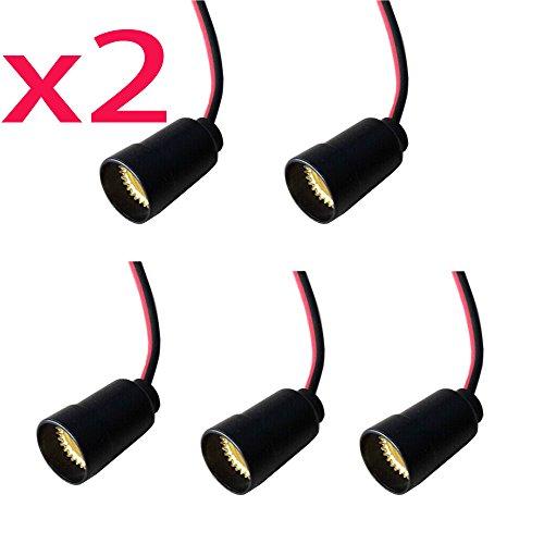 SmartDealsPro 10-Pack E12 Candle Candelabra Light Socket Lamp Holder Base with Leads E12 Base