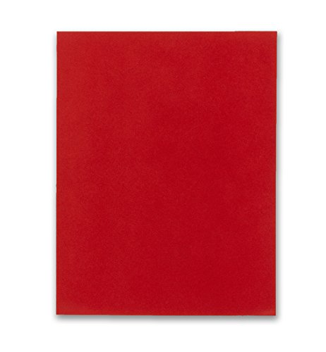 Hygloss Products Self Adhesive Velour Paper - Red, 8-1/2 x 11 Inches - 5 Pack