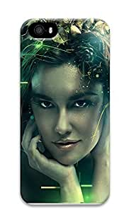 iPhone 5 5S Case Creative Illustration Girl 3D Custom iPhone 5 5S Case Cover