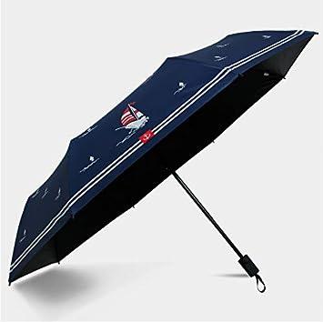 Wsxxnhh Paraguas Plegable para niños, para Hombre, superligero, Vela, Barco, Paraguas