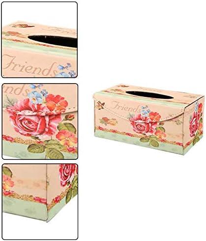 Hacoly Porta Fazzoletti in Scatola Porta Fazzoletti Retro Scatola Porta Salviette Tissue Box Dispenser per la Decorazione di Casa Ristorante Ufficio Auto 22.5 * 12.5 * 1.7cm