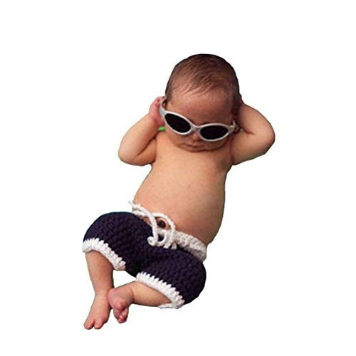 CX-Queen Baby Photography Prop Costume Crochet Knitted Sunglasses Pants