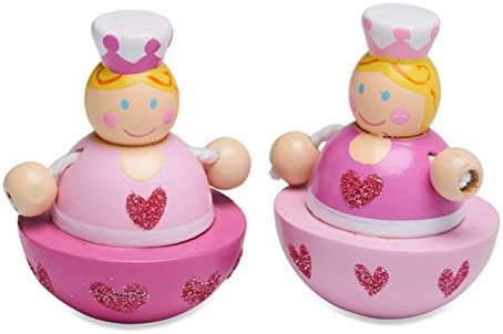 Lucy Locket - Carillon danzante principessa - Carillon danzante rosa in legno con bamboline magnetiche - Carillon giocattolo per bambini