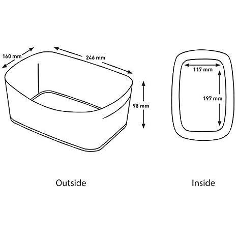 opacas con tapa Cajas de almacenamiento Leitz myBox tama/ño grande color Wei/ß//Gr/ün Metallic Kleine Box mit Deckel