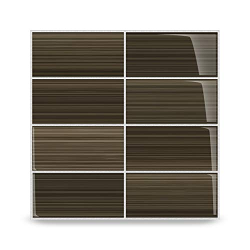 Bodesi Mississippi Mud Glass Subway Tile for Kitchen Backsplash or Bathroom, Color Sample ()