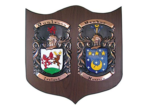 Copper Knight Double Family Crest - Family Crest Gifts
