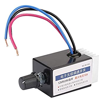 DC 12V//24V Universal Motor Speed Controller Switch for Car Truck Fan Heater Control