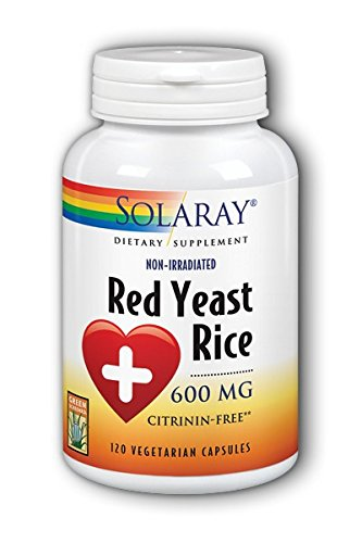 Solaray Red Yeast Rice, 600 mg, 120 Count ()