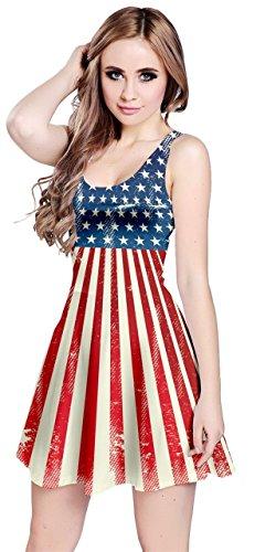 CowCow Womens Tie Dye America Sleeveless Dress, Tie Dye - XL]()