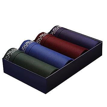 yalanshop Hombre 100% algodón clásica Calzoncillos algodón Ropa Interior – Braguitas Sport Trunks Pura Color
