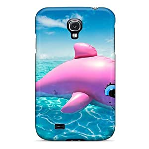 Tough Galaxy VrbzL423PGDAN Case Cover/ Case For Galaxy S4(pink Dolphin)