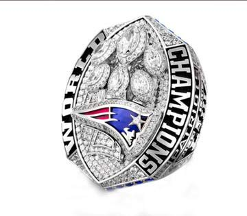 Super Bowl New England Patriots 2019 Rings - NFL Championship Replica Ring - Special Edition Premium Series Championship Rings for Fans & Winners - Perfect Collectible Gift - Multiple Size 7-15