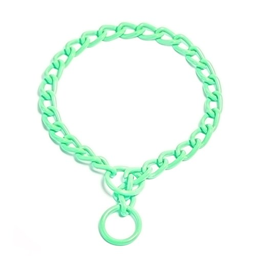 Platinum Pets Coated Chain Training Collar, 16-Inch by 2.5mm, Candy Mint