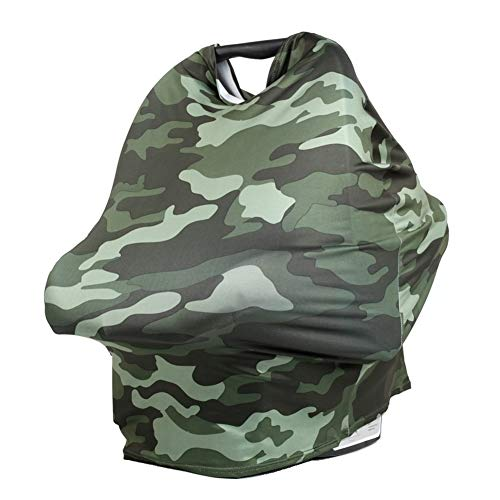 TUOKING Multi Colorful Patterned Nursing Cover Multi-Use Baby Car Seat Cover (Camouflage)