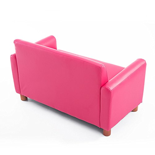 Qaba 33 Kids PU Leather Storage Sofa - Pink by Qaba (Image #5)