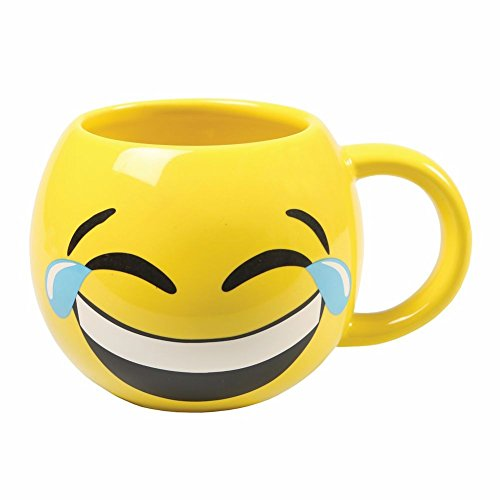 Emojicon Tears Yellow Ceramic Coffee product image